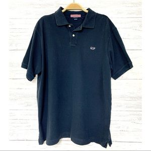 Vineyard Vines Navy Cotton Pique Polo Shirt